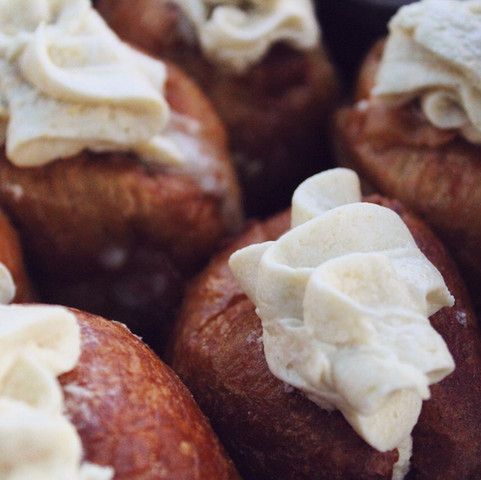 Caramel and salted maple cream filled do