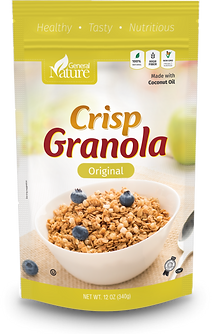 General Nature Crisp Granola  with coconut oil - Original flavor