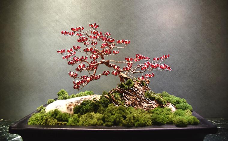 metal red flower tree - front.JPG