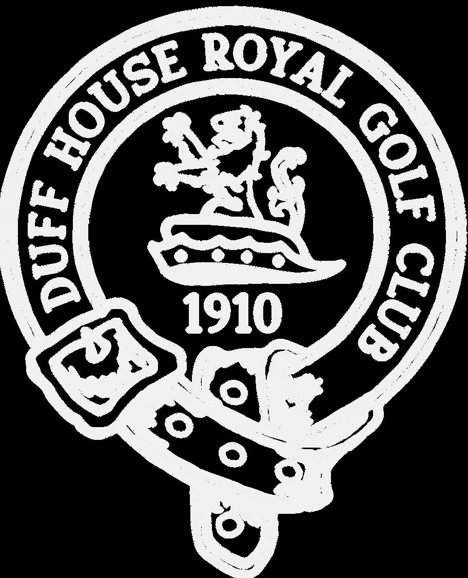 Duff House Royal Golf Club White Logo