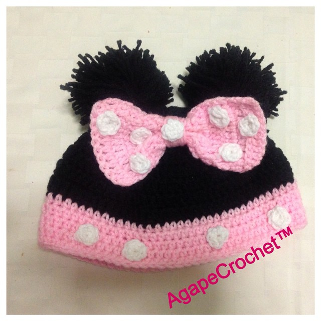 Mini Mouse hat is finish. Order at AgapeCrochet_gmail