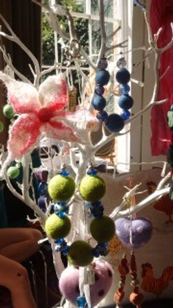 Glorious gifts picture felted corsage and beads