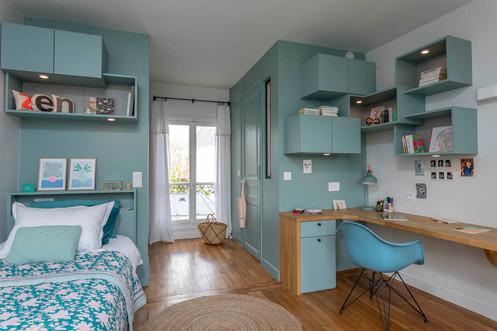 chambre ado bleu