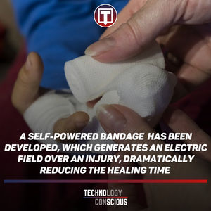 This 'E-bandage' generates electricity, speeds wound healing in rats