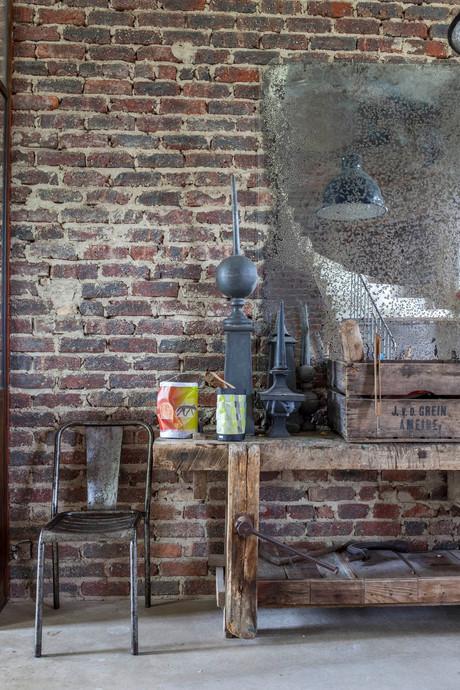 mur en brique les communs