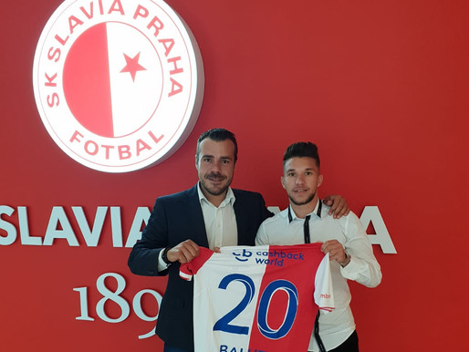 Alex Baluta joins Czech giants Slavia Prague and becomes the Club's record signing