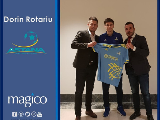 Dorin Rotariu moves to Astana FC on permanent transfer