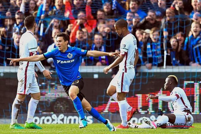 Dorin Rotariu scores his first goal for Club Brugge