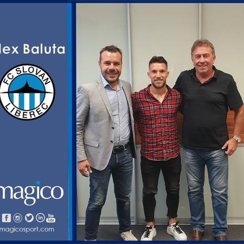 Alex Baluta moves to Slovan Liberec ona one-year loan