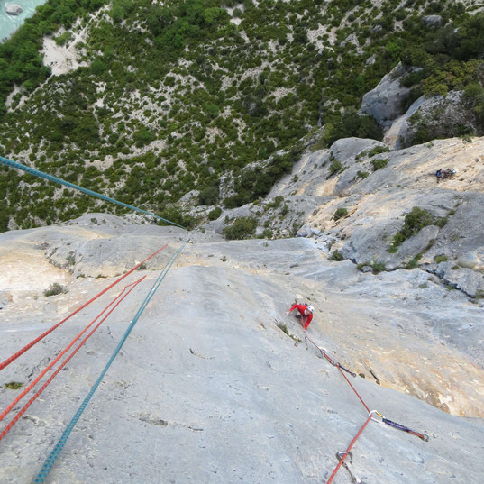 Escalade raide-Verdon