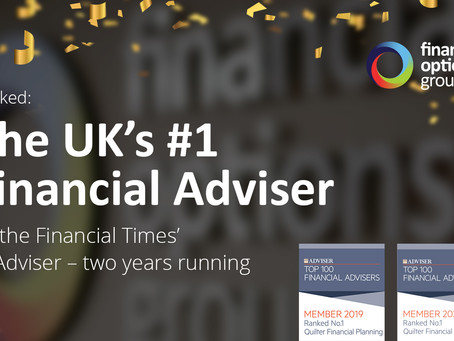 The UK's #1 Financial Adviser… We've topped the list for the second year running