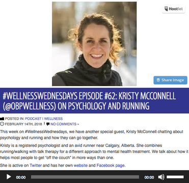 #WELLNESSWEDNESDAYS EPISODE #62: KRISTY MCCONNELL (@OBPWELLNESS) ON PSYCHOLOGY AND RUNNING