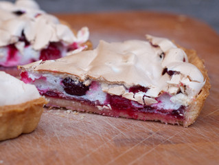 Cranberry Crackle Tart from Dorie Greenspan's Baking Chez Moi: Recipes from My Paris Home to You