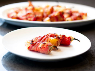 Bacon-wrapped Baby Bell Pepper Poppers