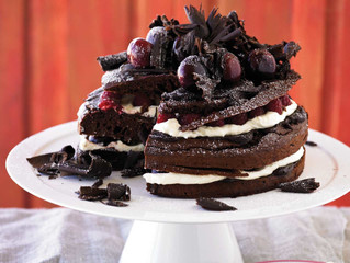 Not so Naughty Chocolate Cake from Michael Moore's Blood Sugar: The Family