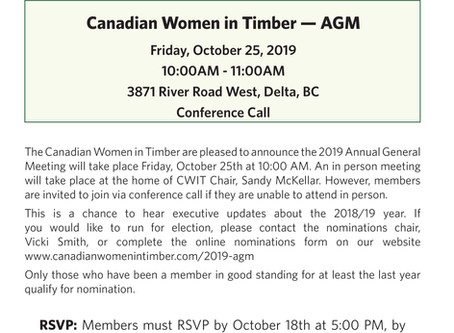 Announcing the 2019 Annual General Meeting