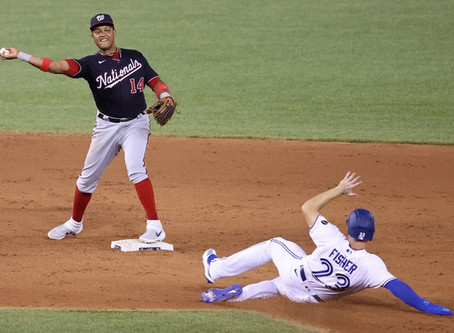 The Nationals split the series against the Toronto Blue Jays