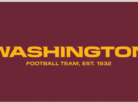 "Until a new name is decided upon, the Redskins will be known as ""The Washington Football Team"""