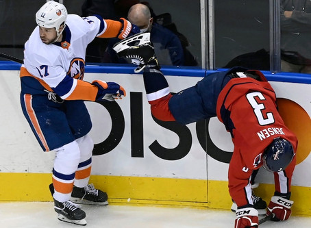 The Capitals lose in the first round of the Stanley Cup Playoffs to the New York Islanders
