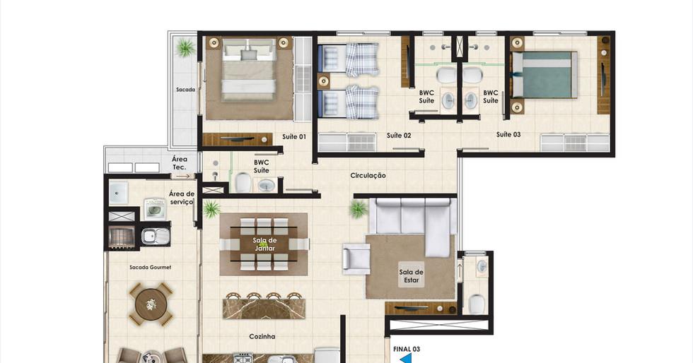 Apartamento tipo 03