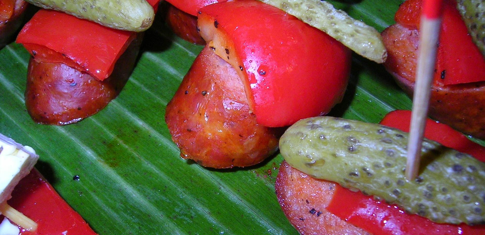 Bouchée de chorizo et poivron grillé