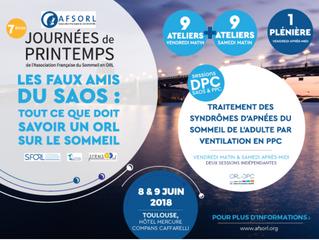BIENTÔT - 7e journées AFSORL - 8 et 9 juin 2018 - Toulouse