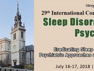 29th International conference on sleep disorders - London - 16-17 July 2018