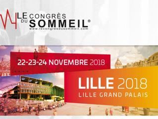 Congrès du sommeil SFRMS - Lille - du 22 au 24 novembre 2018