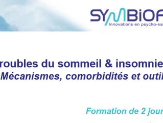 Formation : troubles du sommeil et insomnies - Symbiofi - 4 et 5 juillet 2018 - Lille