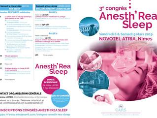 3e congrès ANESTH' REA SLEEP - 8 et 9 mars 2019 - NIMES