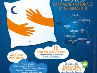 "Campagne d'information ""A chacun son sommeil"" - France - 18 au 29 Mars 2018"