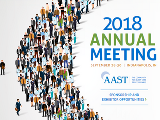 AAST Annual Meeting - Indianapolis  28-30 sept 2018