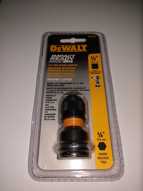ADAPTADOR SOCKETE 1/4 X HEX DEWALT IMPACT READY DW2298
