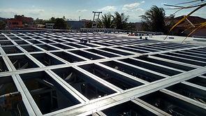 Estrutura de laje em Steel Frame