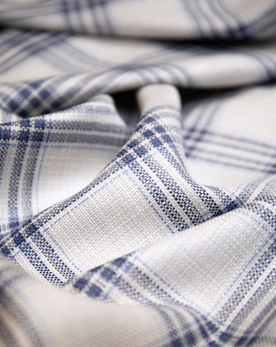 Santarelli Blue:White Fabric Swatch