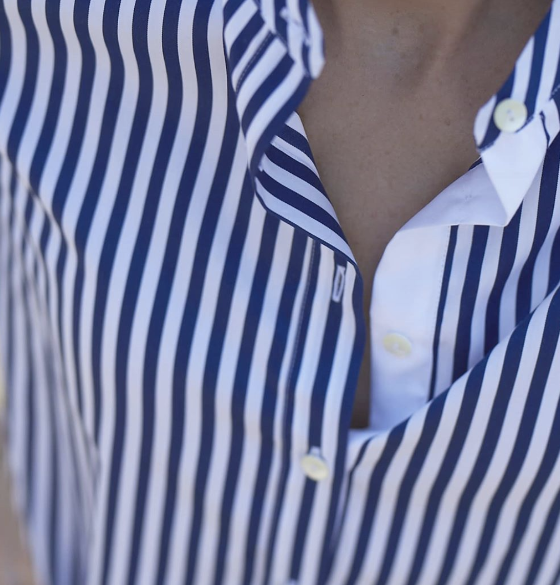 Hubert Gasser Striped Shirt Blue