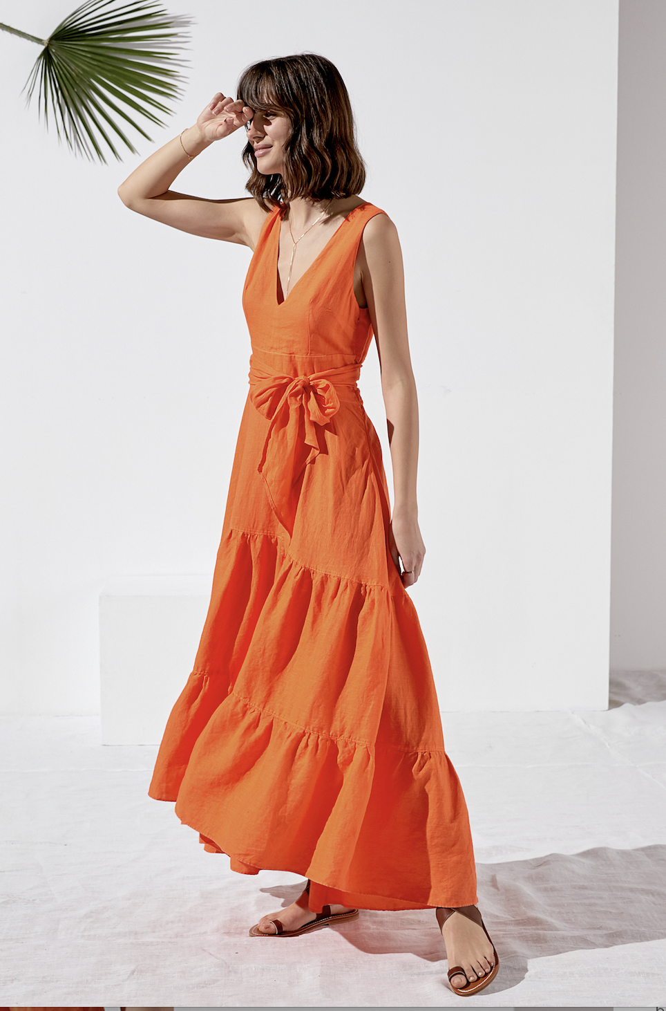 Rosso 35 Orange Maxi Dress