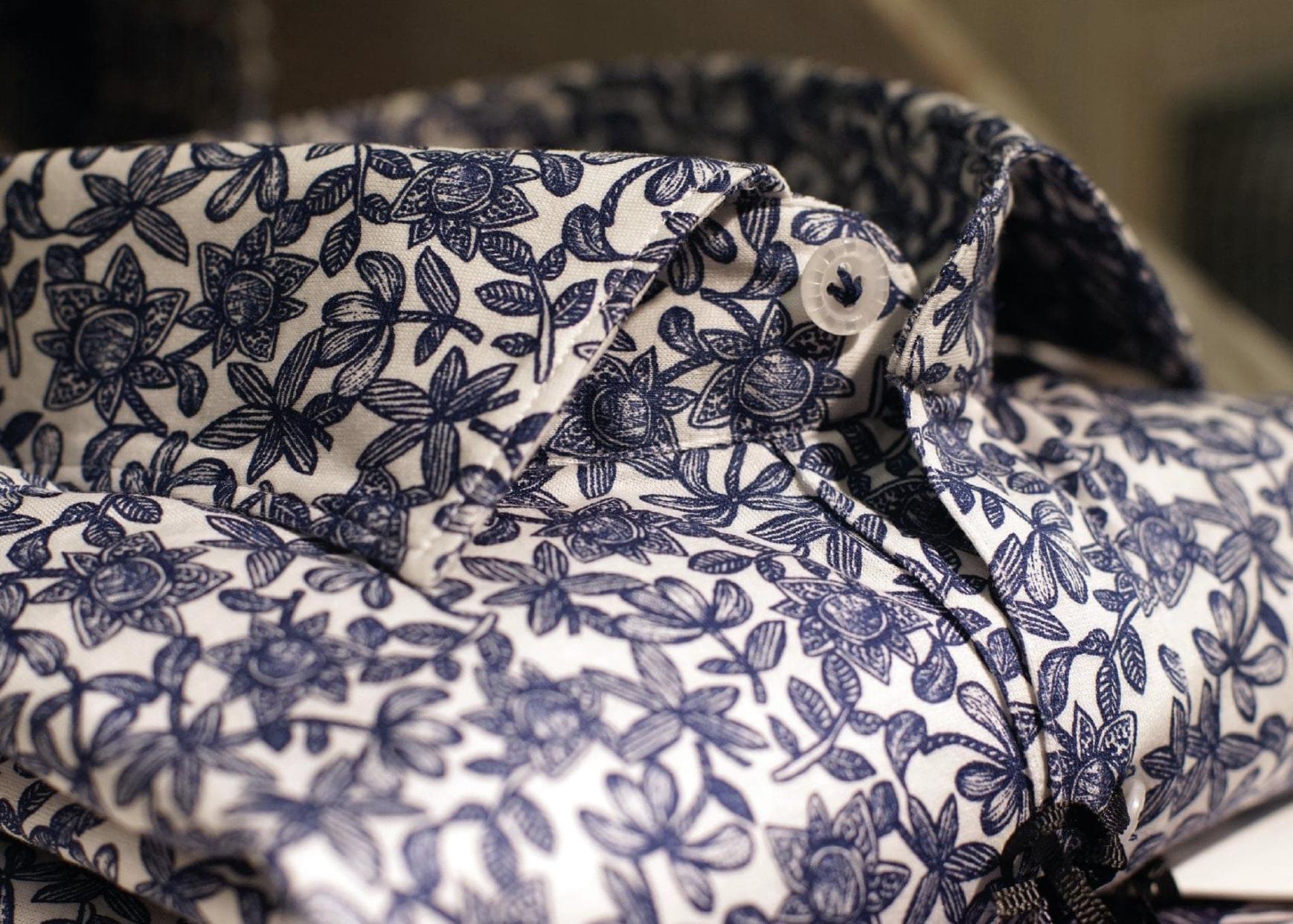 Sonrisa Blue Floral Shirt