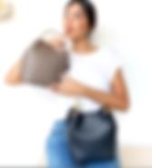 Sondra Roberts Vegan Leather Bucket Bag.