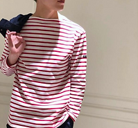 Saint James Red Striped Knit.png