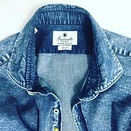 Giannetto Portofino Denim Shirt Close Up