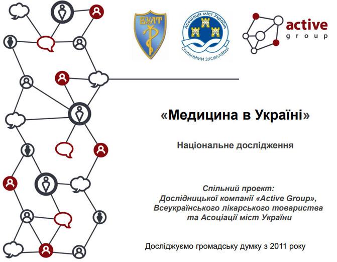 """""""Медицина в Україні"""". Національне дослідження."""