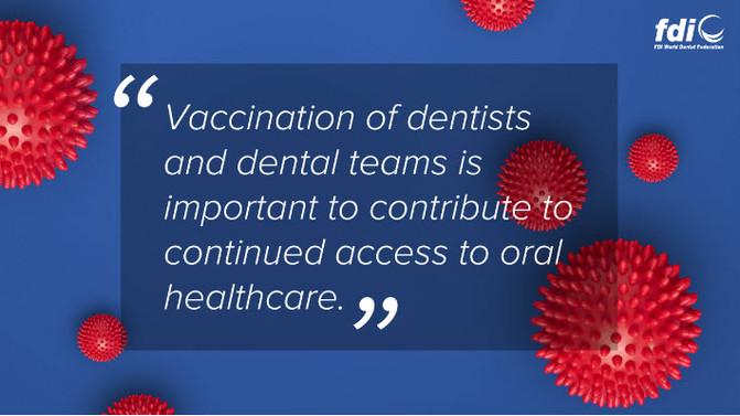 Заява Всесвітньої федерації стоматологів щодо вакцинації проти COVID-19