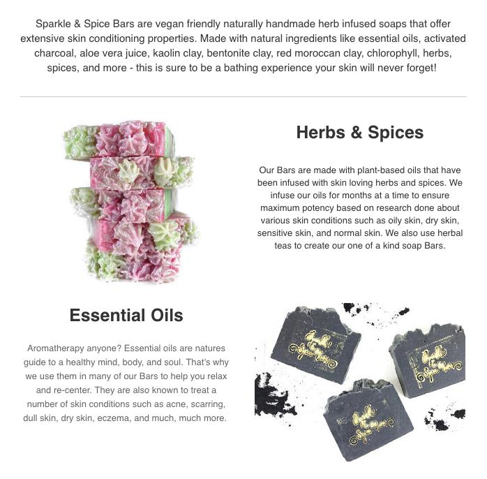 Sparkle & Spice Bars Newsletter: Symmadar Schand