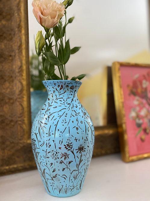 Blue Wildflower Vase