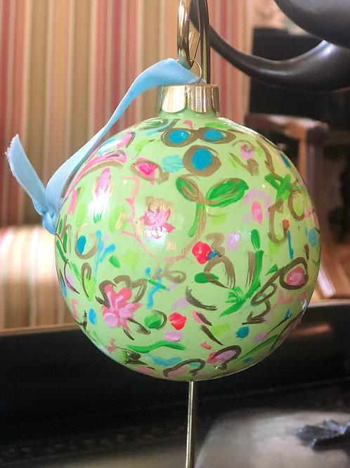 Wildflower Ball Ornament, Citron no. 3