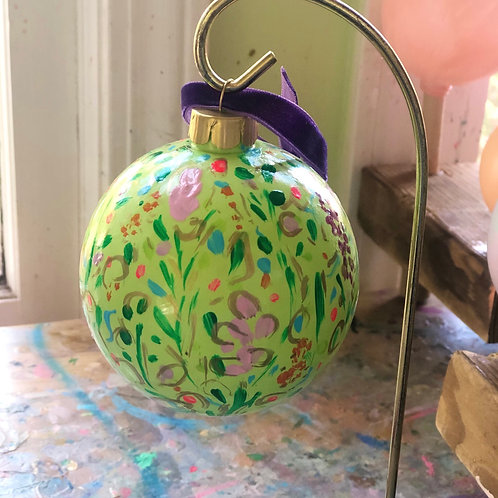 Wildflower Ornament Ball, Citron no. 1
