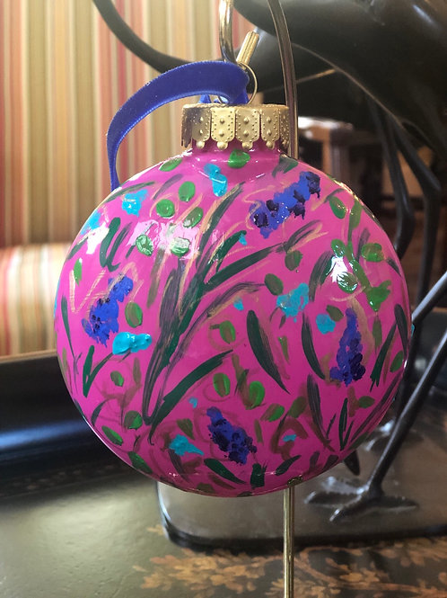 Wildflower Ornament, Magenta no. 2