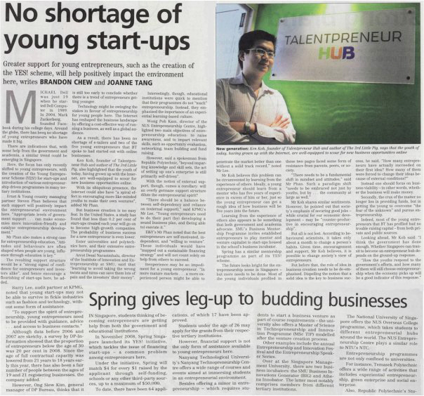 Talentpreneur - THE BUSINESS TIMES
