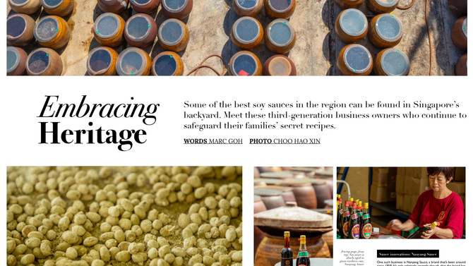 Nanyang Sauce is featured in Accor Hotel's F&B Magazine